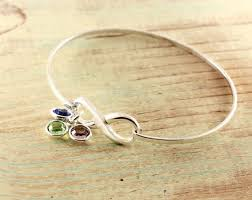 infinity charm bangle bracelet images Bangle bracelet with birthstones at sweet blossom gifts jpg