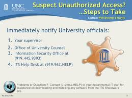 Unc Its Help Desk by Security Awareness 9 10 09 V4 Web Browser