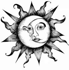 what does the symbol of a sun and moon together images