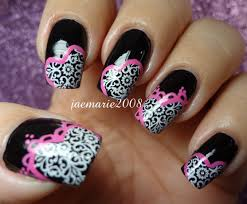 lacey hearts valentine u0027s day nail design using bm template youtube