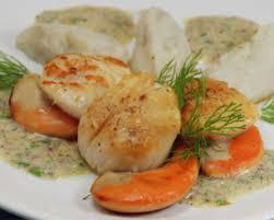 cuisiner les topinambours a la poele st jacques poêlée et purée de topinambour vanille joëlle cuisine