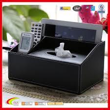 europe desk accessories leather wooden organizer tissue box with