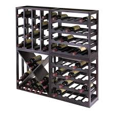 winsome 92104 kingston modular x cube stackable wine rack in dark