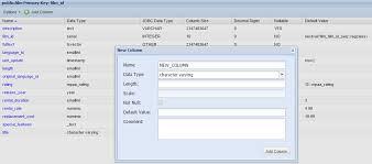 Postgresql Alter Table Add Column Postgresql Web Client Dbhawk By Datasparc