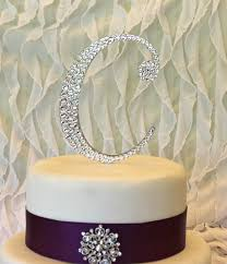 z cake topper monogram wedding cake topper decorated with swarovski crystals any