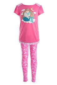 pink mermaid sleepwear for pajama sets