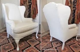 White Armchair Slipcover Matelasse Slipcover For Wingback Chair The Slipcover Maker