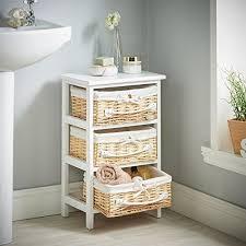 new home bedroom furniture 3 wicker basket drawers bathroom