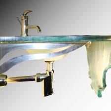 wall mount glass sink waterfall wall mount integral glass sink 30 sinks gallery