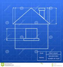 Blueprint House Plans by Blueprint Of A House Design Stock Vector Image 41198914