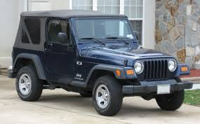 blue jeep 2 door jeep wrangler tj wikipedia