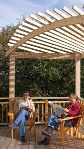 build an arched pergola canadian woodworking backyard