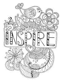inspire coloring page words colouring pages for adults