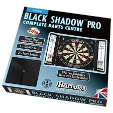 black dart board cabinet harrows black shadow pro aluminium complete darts centre rebel