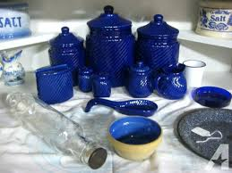 cobalt blue kitchen canisters blue canister set chgrille com