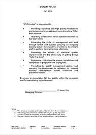 Prepare Resume Online Free by Quality Policy Template Contegri Com