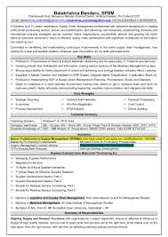 Resume For Supply Chain Executive Resume