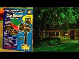 star shower laser light reviews star shower laser lights review test footage christmas lights