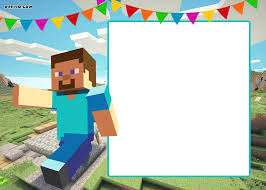free printable minecraft birthday invitation template minecraft