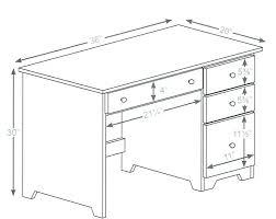 Reception Desk Height Dimensions Economy 3 Drawer Laptop Computer Desk Ohio Hardwood Furniture