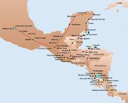Cancun Mexico Map by Bus Passes San Jose Nicaragua Honduras Belize Guatemala Cancun Mexico