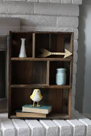 reclaimed wood shelf cubby shelf bathroom organization