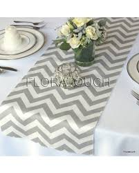 zig zag table runner don t miss this bargain gray chevron table runner grey and white