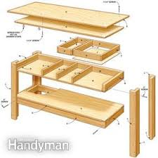 Make A Picnic Table Out Of One Sheet Of Plywood by Simple Workbench Plans Family Handyman