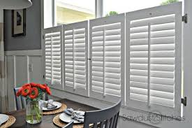 Shutter Blinds Diy Cafe Plantation Shutters Sawdust 2 Stitches