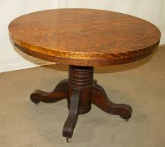 Mission Style Dining Room Table by Round Dining Table With Extension Shown In Dining Room Antique