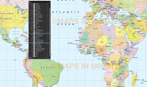 World Map Simple Vector by Digital Vector Map Gall Projection Political World With Insets
