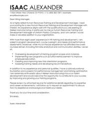 training and development manager cover letter sample cover