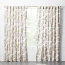 Beige And White Curtains Modern Curtains Cb2