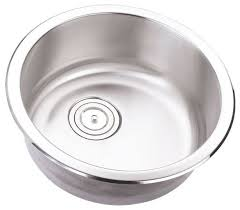 Stainless Steel Undermount Single Bowl KitchenBarPrep Sink - Round bowl kitchen sink