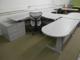 u shape height adjustable desk office outlet an outlet source