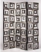 deals on modart 3 panel swivel circular mirrors screen room divider