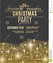 gold sparkle christmas party flyer template stock vector image