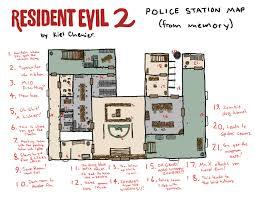 resident evil 2 police station by kiel mapstalgia