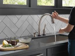 touch technology kitchen faucet 980t sssd dst single handle pull kitchen faucet with