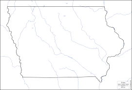 Iowa Usa Map by Iowa Free Map Free Blank Map Free Outline Map Free Base Map