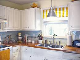 kitchen style white stripe yellow kitchen curtains beach themed