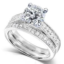 moissanite bridal reviews forever one d f moissanite bridal set with diamond 1