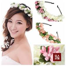 white flower headband hot new fashion pink white flower garland boho floral headband