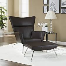 Leather Wingback Chair With Ottoman Design Ideas Hans Wegner Wing Chair Ottoman Reproduction Leather Hans