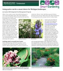 native plants landscaping going native can be a smart choice for michigan landscapes msu