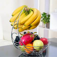 where to buy fruit baskets fruit basket with banana holder chrome metal wire