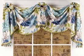 Curtain Rosettes Valance With Rosettes