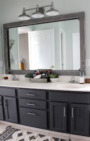 Unique Bathroom Mirror Frame Ideas Diy Rustic Wood Mirror Frame Master Bathrooms Bliss And Budgeting