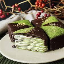 matcha gold crepe cakes recipe tastemade