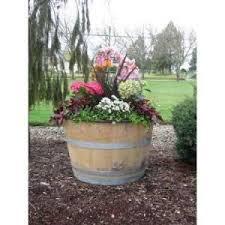 the 25 best whiskey barrel planter ideas on pinterest barrel